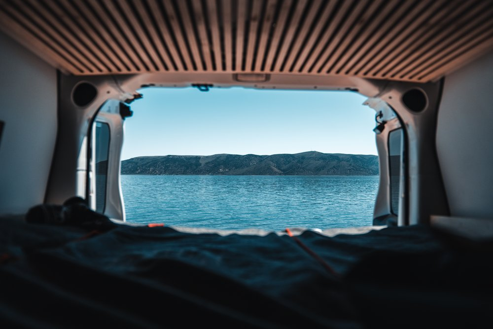 Lake View from the Smalls Campervan Bed
