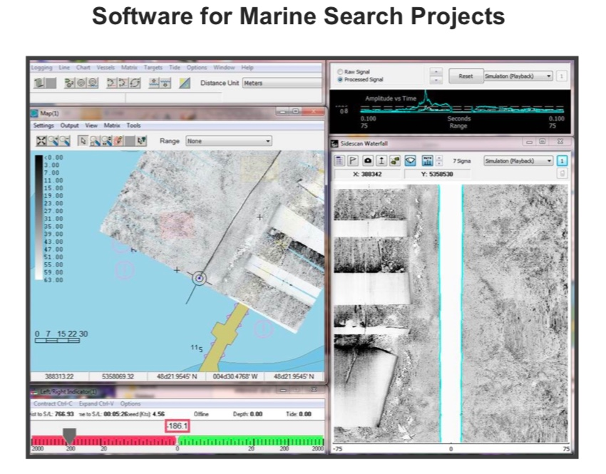 Our Catalogue:  - Side-scan operationQuick response for SAR Hypack data processingGoogle Earth layout of processed area Outland 1000 ROV for quick target verifications Mobilized together with Side-scan sonar on request