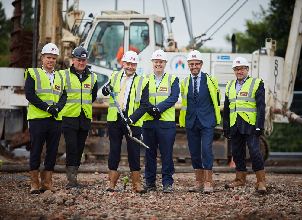 Construction starts on new Holiday Inn Express, next to EventCity in TraffordCity, Manchester..jpg