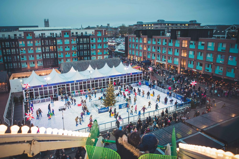 Ice rink from wheel