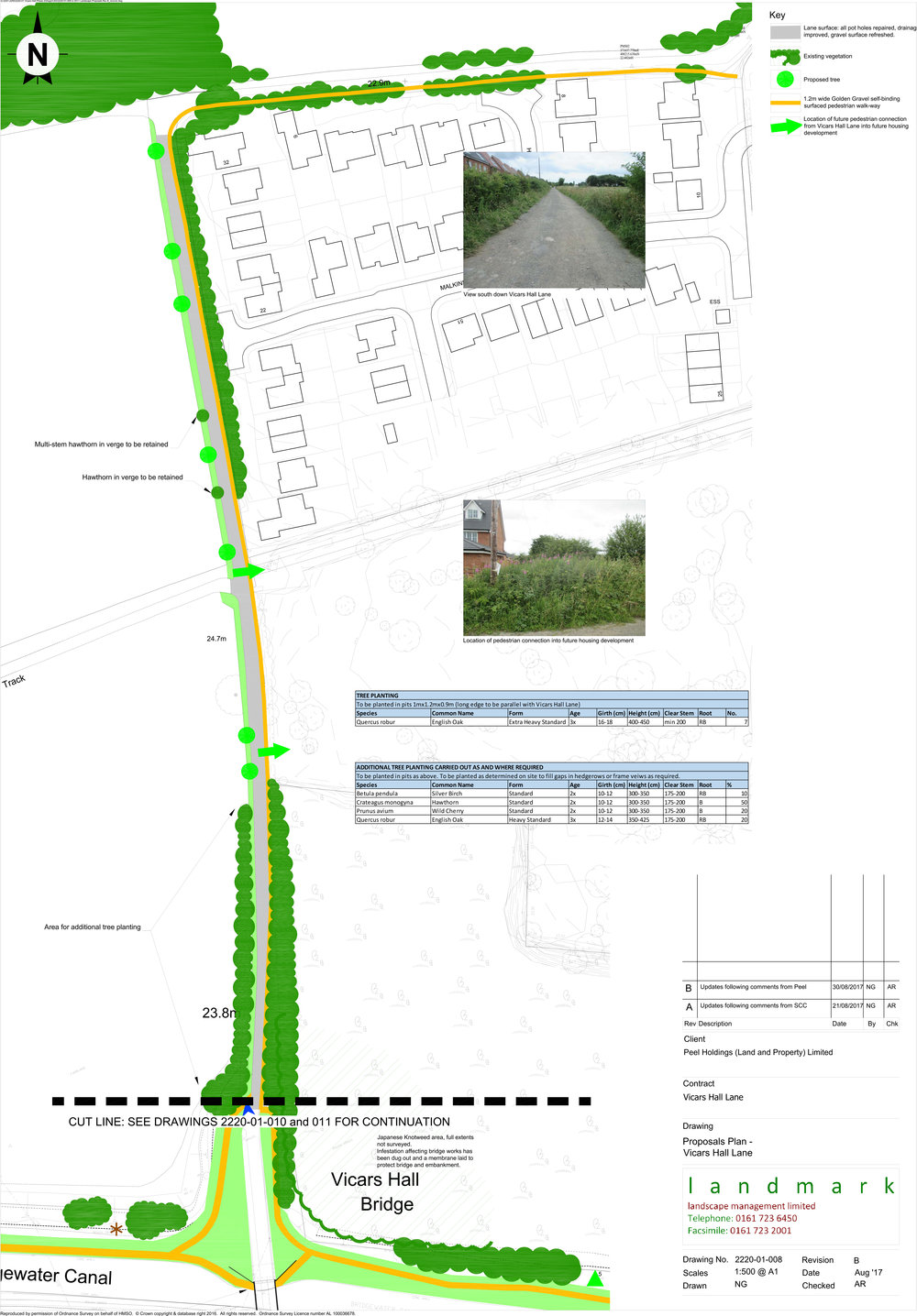 Vicars Hall Lane Corridor Landscape Proposal