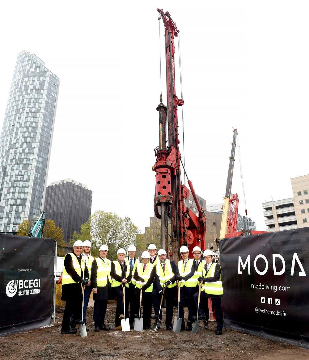 Moda ground breaking at The Lexington