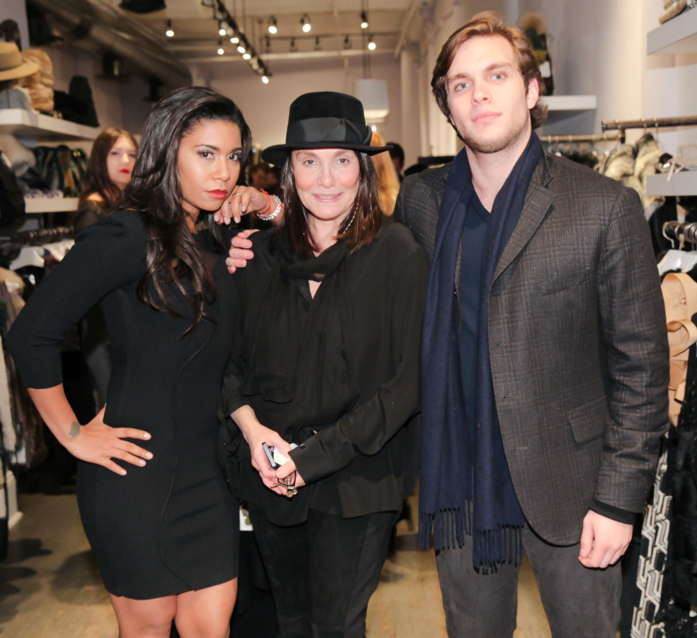 OITNB Actress Jessica Pimentel, Devora Avikzer Goltry and her son Josh Goltry pictured at the Stella & Jamie X Foravi Trunk Show