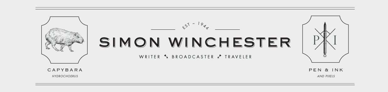 Simon Winchester's website