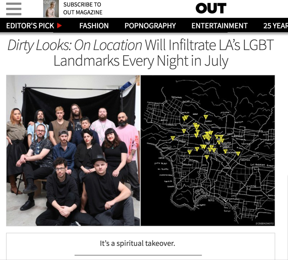 Austin Dale,  Dirty Looks: On Location  Will Infiltrate LA's LGBT Landmarks Every Night in July,  Out