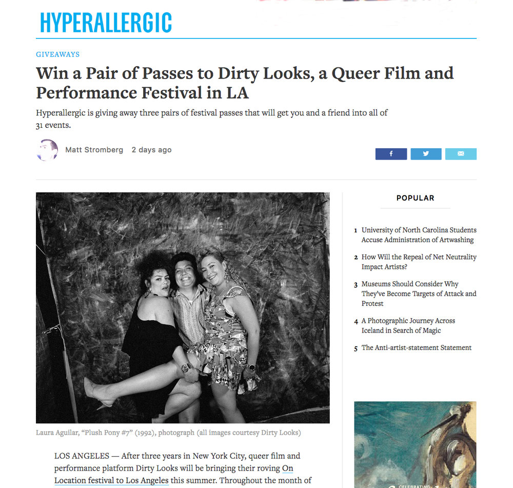 Matt Stromberg, Win a Pair of Passes to Dirty Looks, a Queer Film and Performance Festival in LA,  Hyperallergic