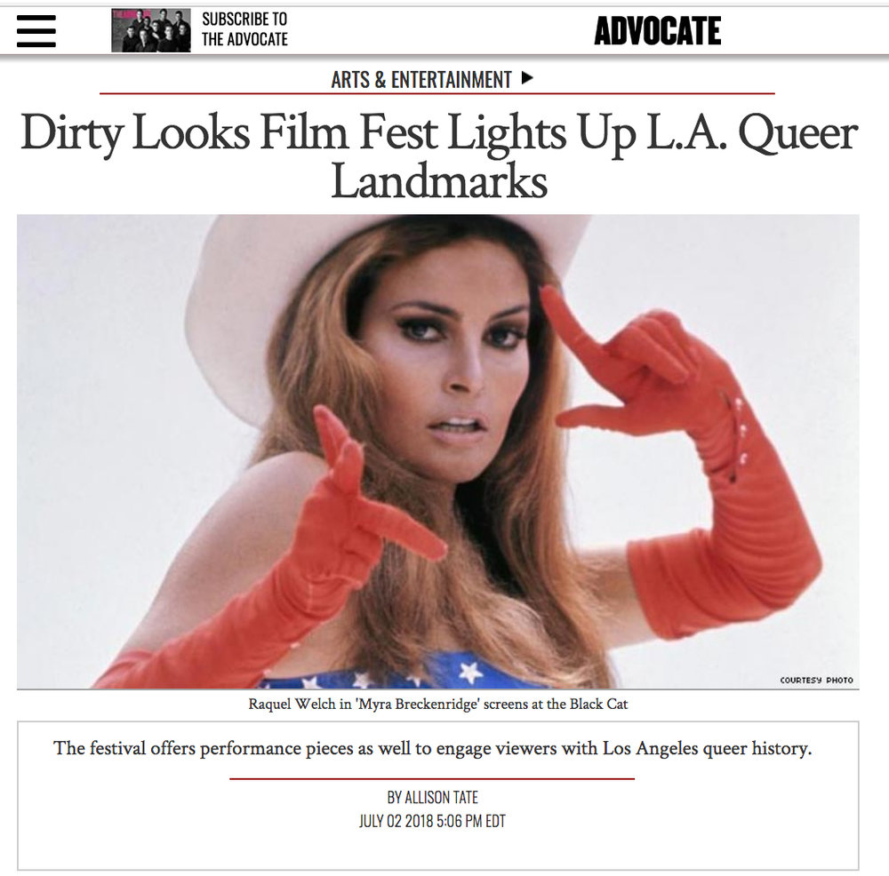 Allison Tate, Dirty Looks Film Fest Lights Up L.A. Queer Landmarks,  Advocate