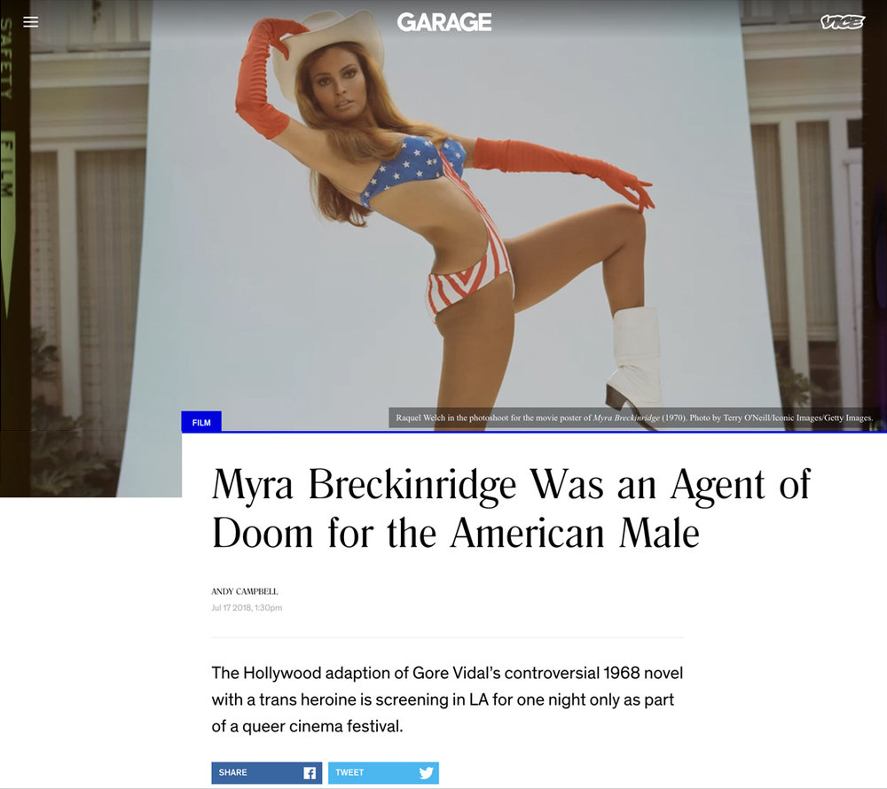 Andy Campbell, Myra Breckinridge Was an Agent of Doom for the American Male,  Vice