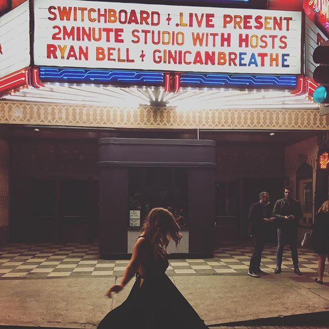 • Such an honour to have my name in lights for hosting the @2minutestudio with @ryan_a_bell the #acehotel theatre in LA.