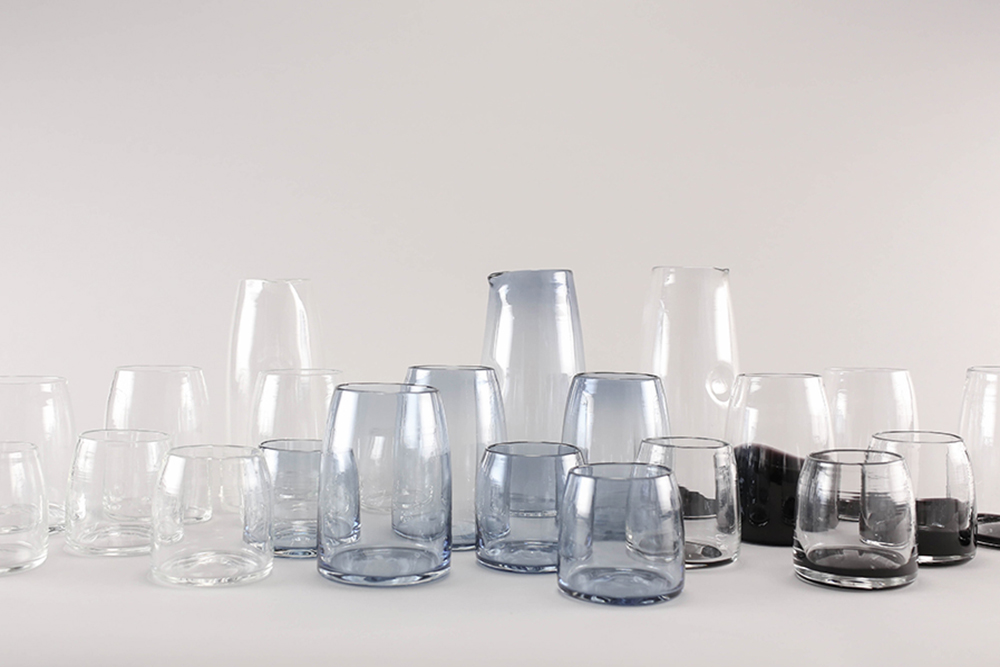 SHELTER: Hand-blown glassware