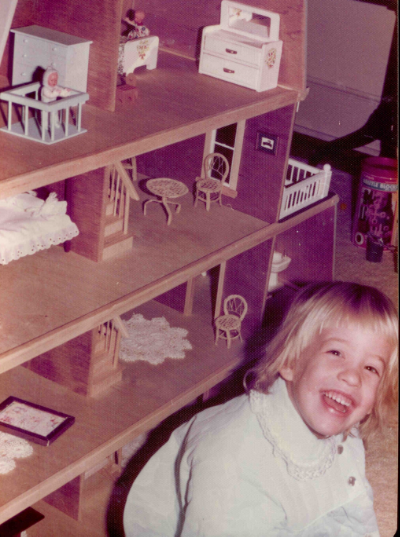 My love for design began with a dollhouse from Santa, c 1976