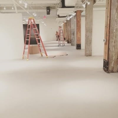 Floor paint finishing up
