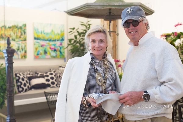 interior designer Kathleen rivers with JOhn Mellon.