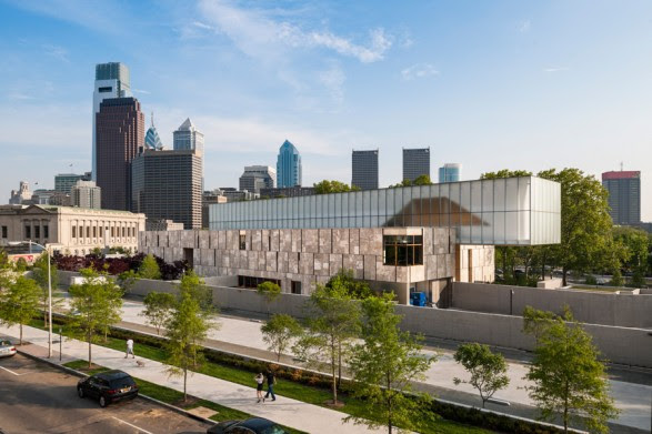 The Barnes Foundation designed by architects Tod Williams & Billie Tsein located on four  acres in the heart of downtown Philadelphia.