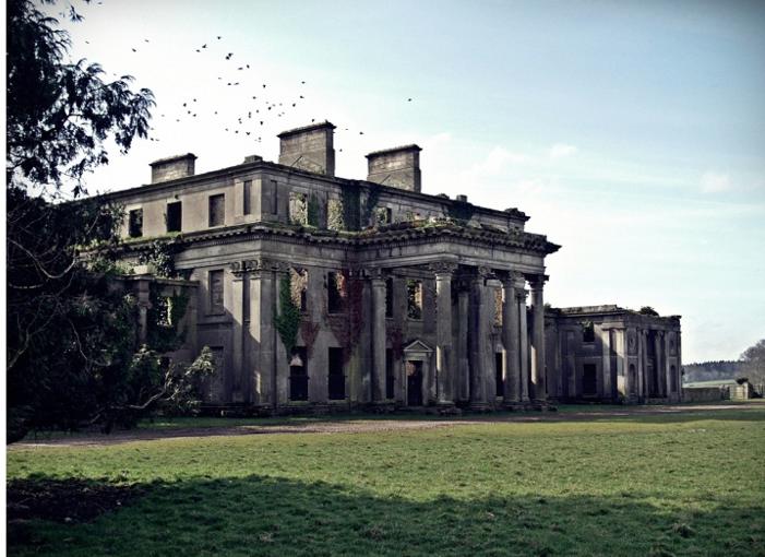 Castleboro House in Ruins Ireland