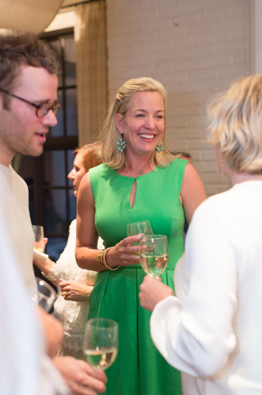 Sarah-Hamlin enjoys the company of Robert Highsmith and Stefanie Brechbuehler from  Workstead .