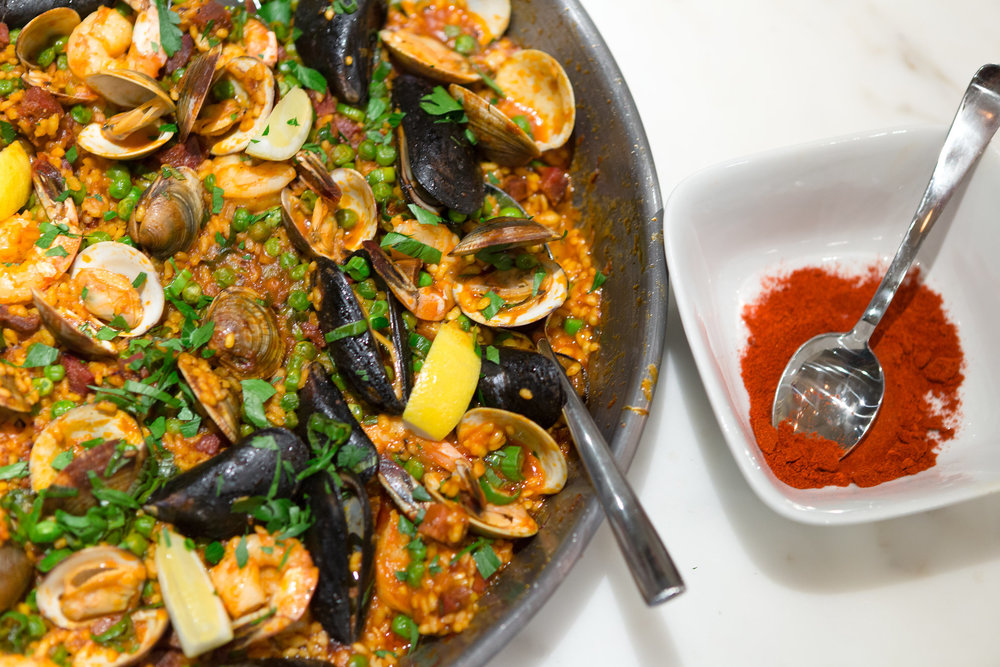Dinner is served: Paella continues the Spanish themed cuisine.