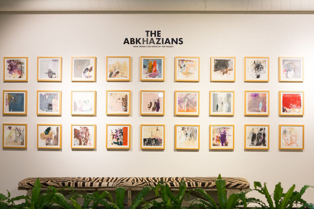 Charleston Artist, Tim Hussey, took over the gallery wall with his newest show,  The Abkhazians.     Please inquire for purchase (info@fritzporter.com)
