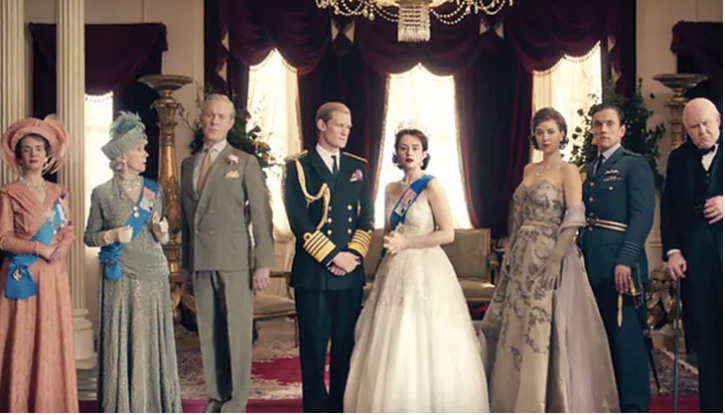 The cast of The Crown on Netflix