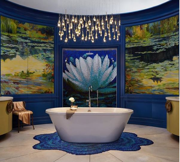 1: Monet was the muse… (& so was this bathroom!) -