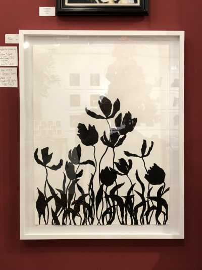 Tulips  by Susan Hable | India Ink on Paper | 30 x 40 unframed. Courtesy of Mitchell Hill.  $3500