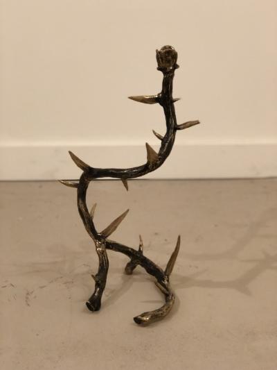 Arete Collection Thorn Bronze Candelabra | $650