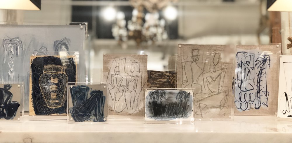 Haley's Figure Studies in Lucite Frames (available below, at Fritz Porter and  online here