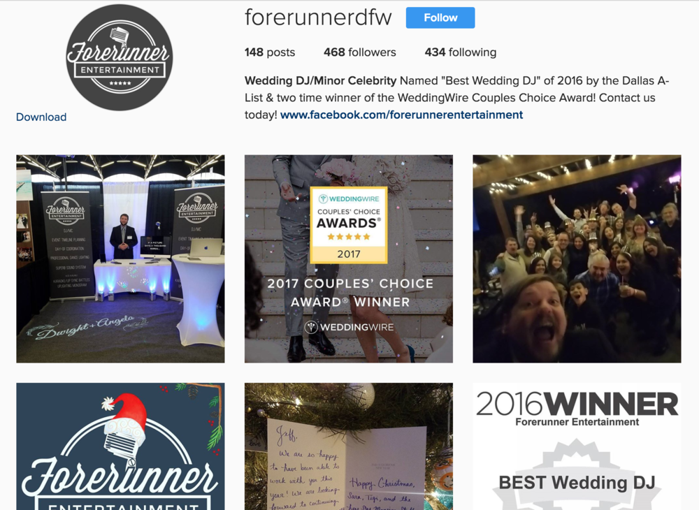 Wedding DJMinor Celebrity (@forerunnerdfw) • Instagram photos and videos 2017-01-31 23-06-26.png