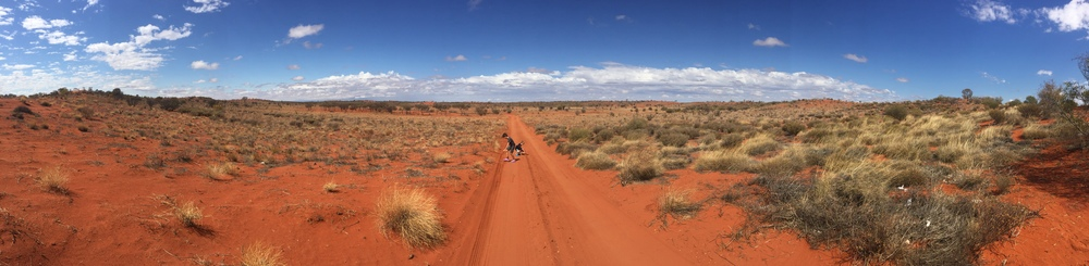 A panorama of the outback