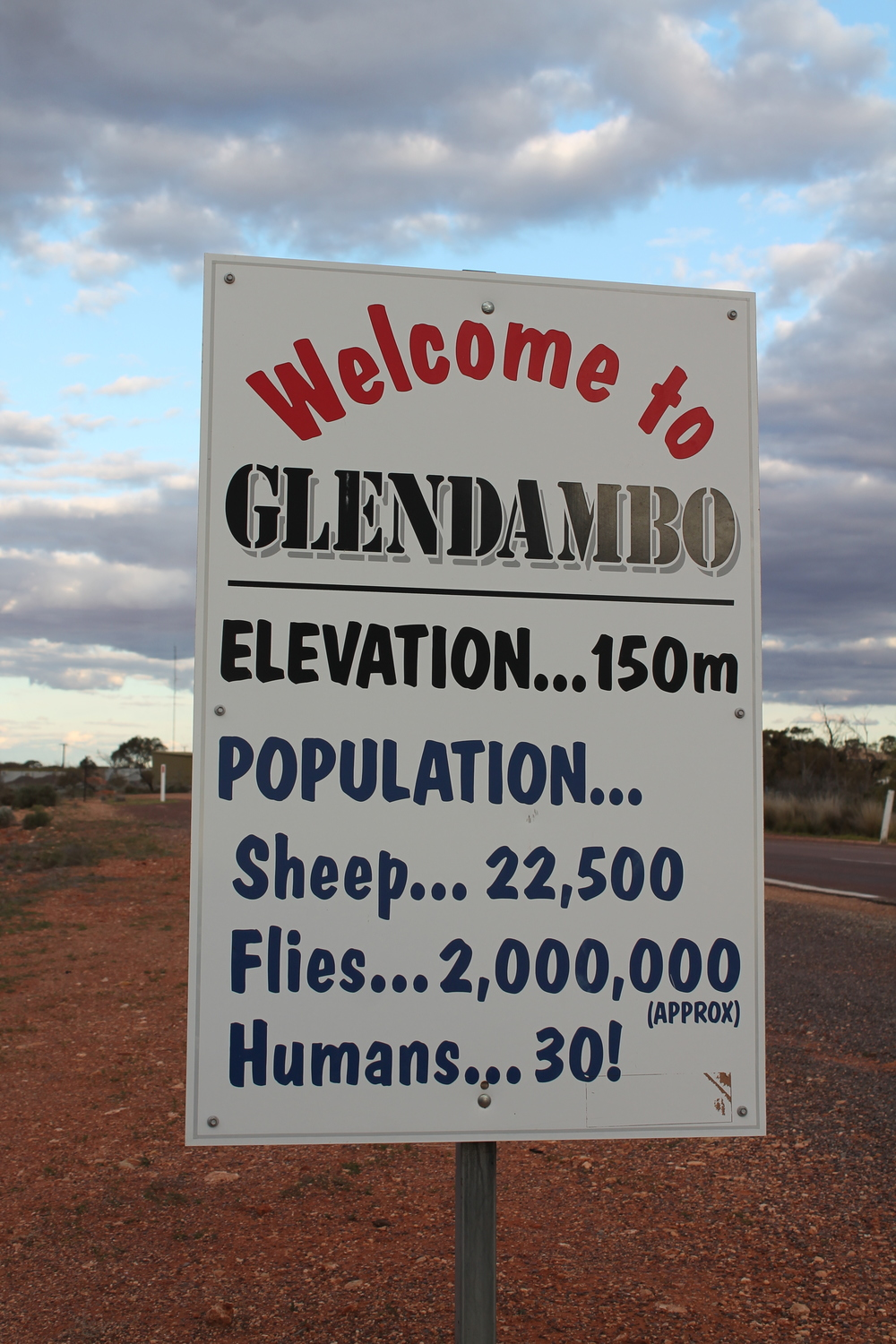 Last place we stayed in the outback.