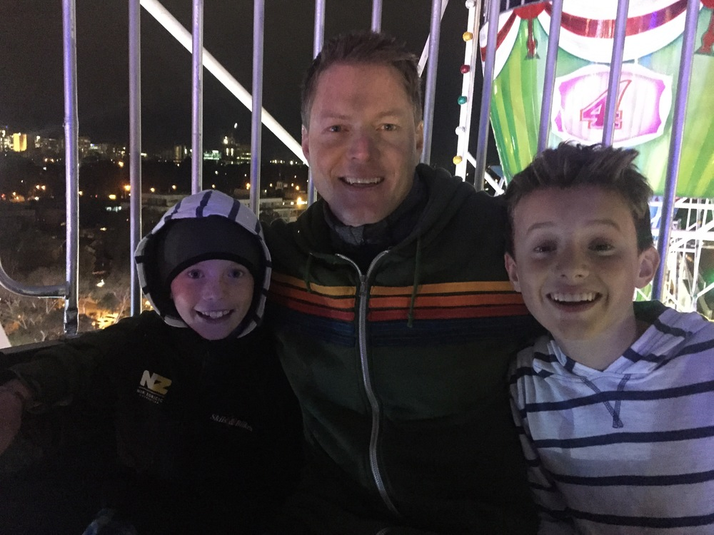 We shared a ferris wheel with a cool Aussie family.
