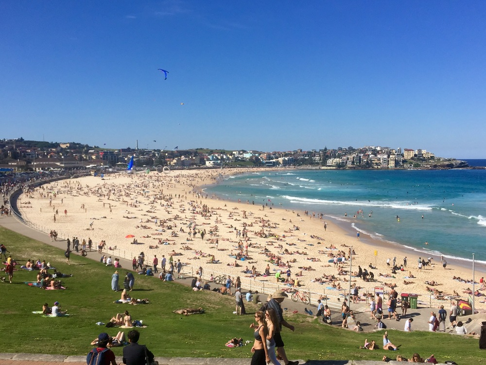 Bondi Beach on the day we arrived