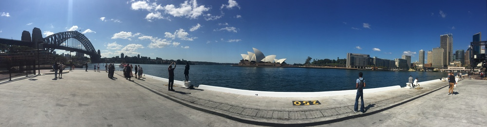 Pano of the Sydney Harbour