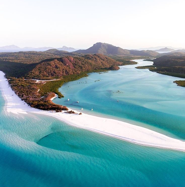 Whitehaven Beach from the sky!