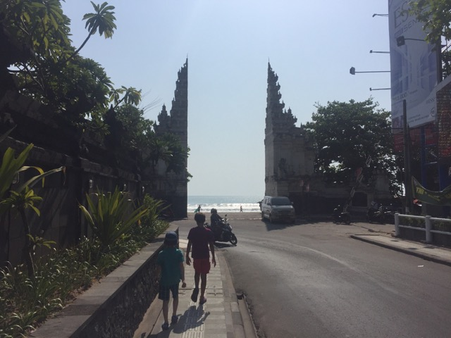 Main entry to the beach in Legian