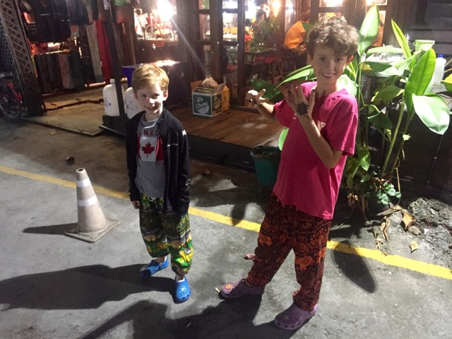 Max & Sully's new Thai pants.