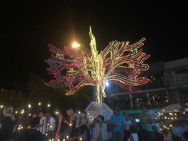 The parade.  Opening of Yi Peng.