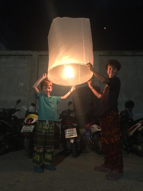 The last lantern that we lit off
