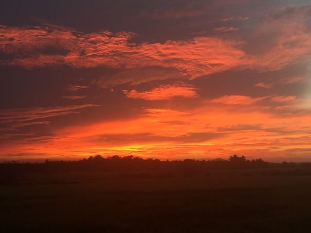 Sunset in Polonnuwara