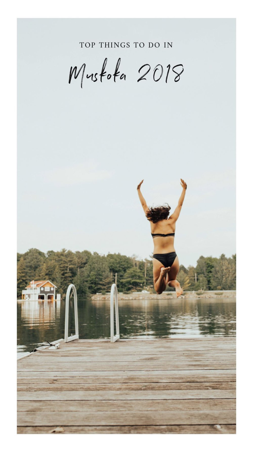 muskoka, ontario - sunset boat rides, cozying by the fire + cottage country livin'.