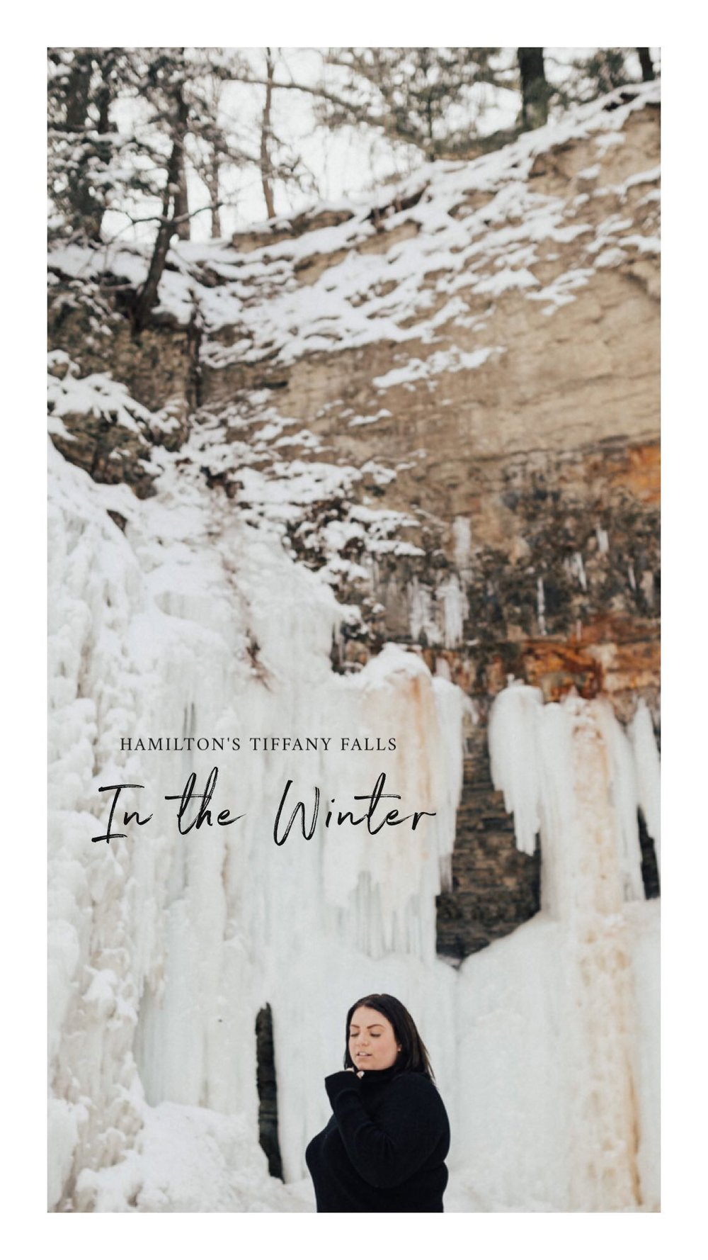 tiffany falls, hamilton - frozen waterfalls, snowy trails + sensational views.