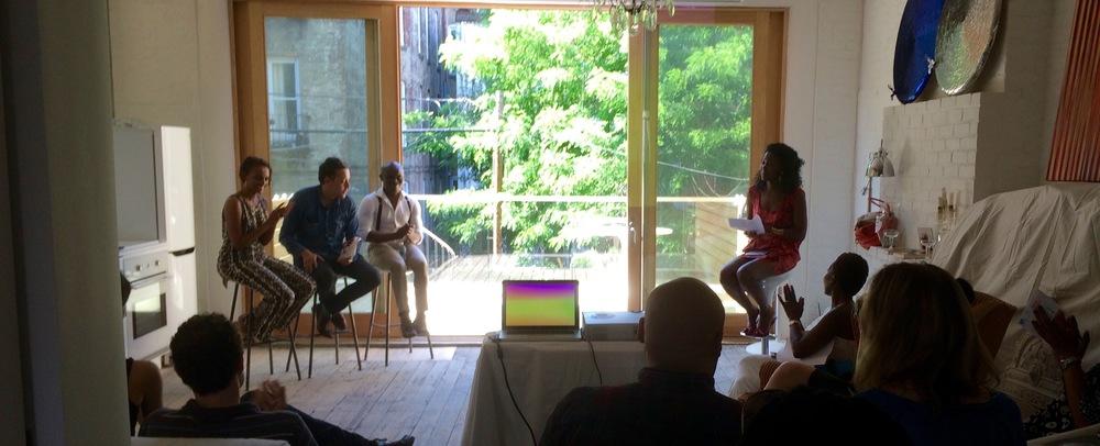 Semhar Araia, Jean-Eric Boulin, and Kwame Marfo at Dekatur Club, June 2015