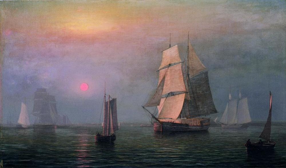 Fitz Henry Lane, Shipping in Downeast Waters, 1854, oil on canvas, museum purchase, 1960