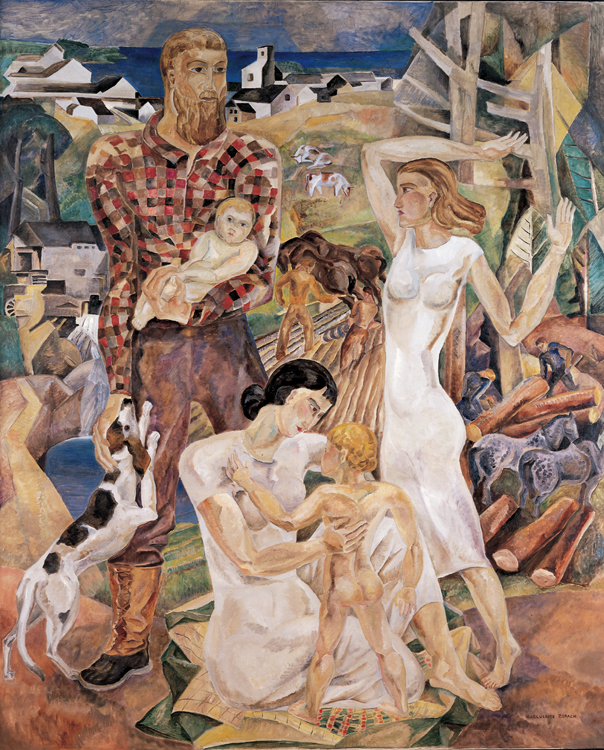 "Marguerite Zorach, ""Land and Development of New England,"" 1935"