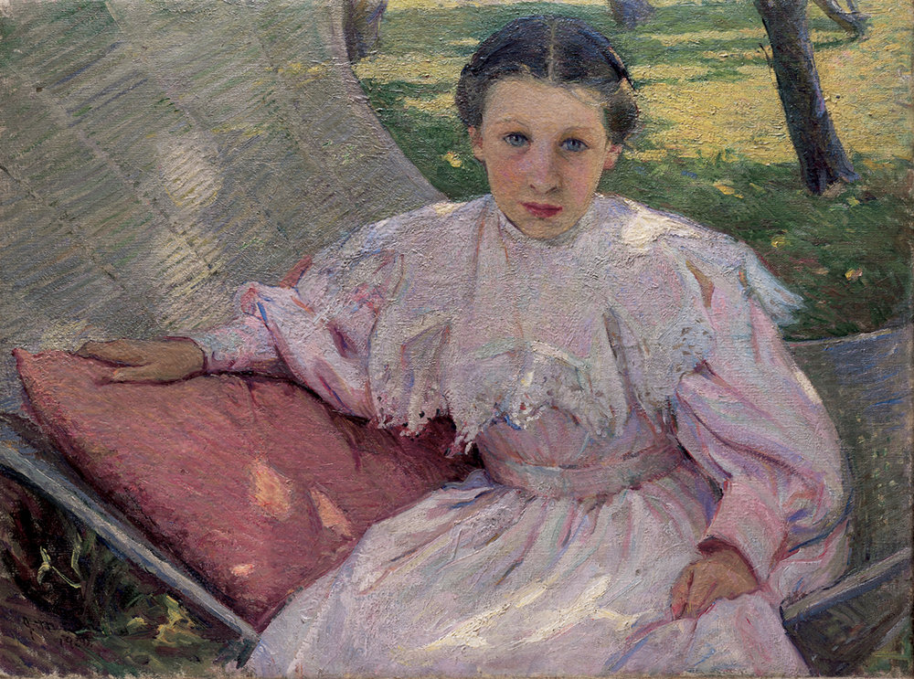 "Josephine Miles Lewis, ""Young Girl in Swing,"" 1900"