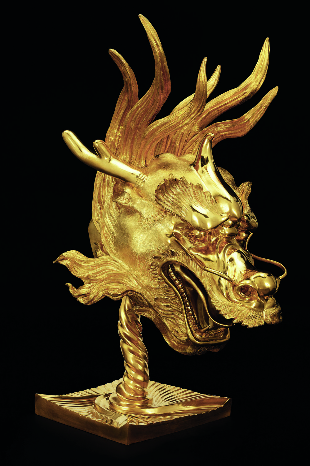 Dragon , Ai Weiwei, 2010 Bronze with gold patina Ai Weiwei: Circle of Animal/Zodiac Heads