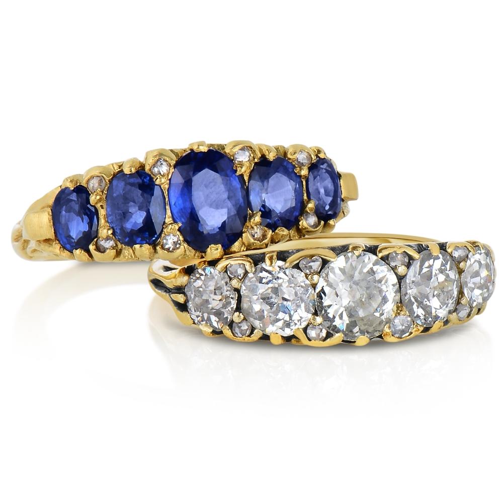 Victorian 5 Stone Sapp. Dia. Ring.jpg