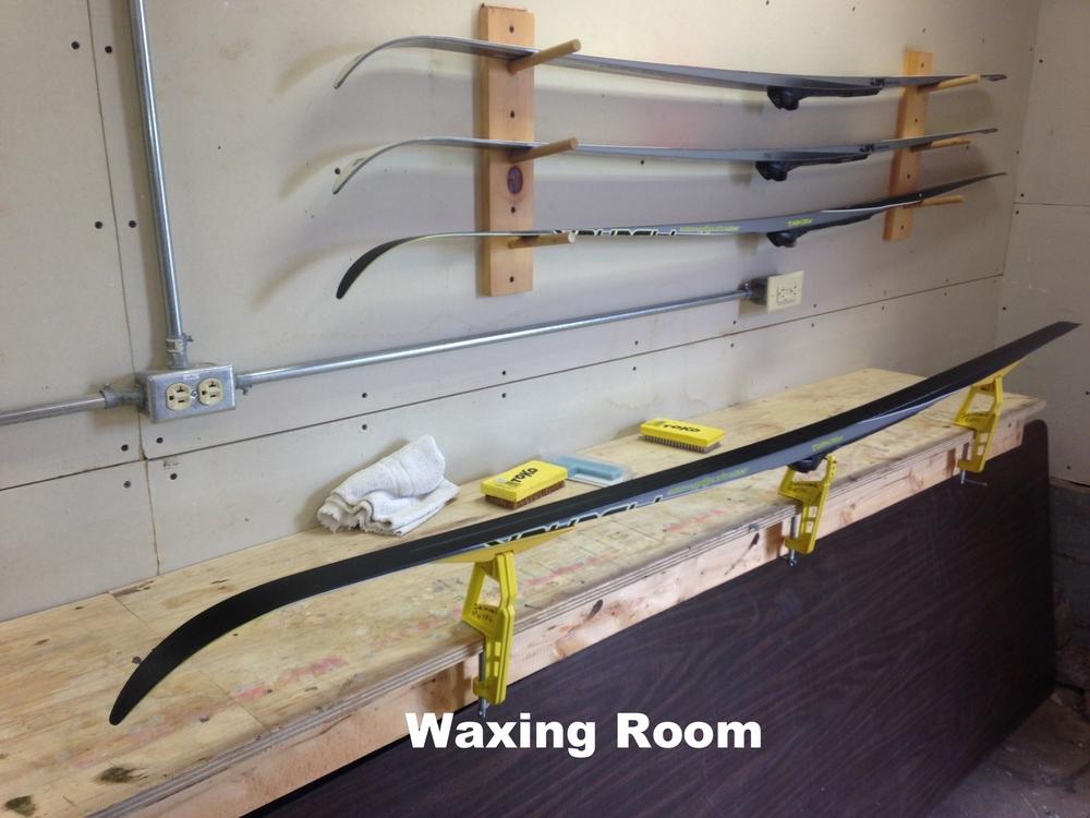 Heated Ski Waxing Room