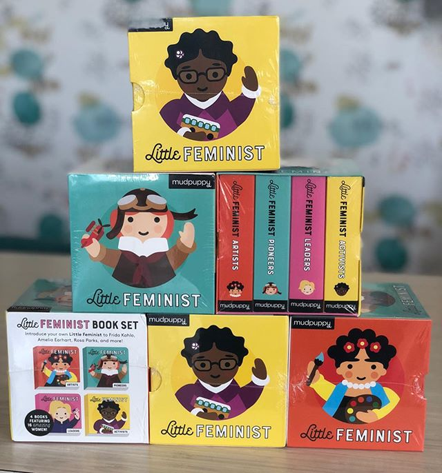 We love big books, little books and everything in between!! ♥️ #littlefeminist #giftsforeveryone #thenutmontclair #books #childrensbooks #babygifts