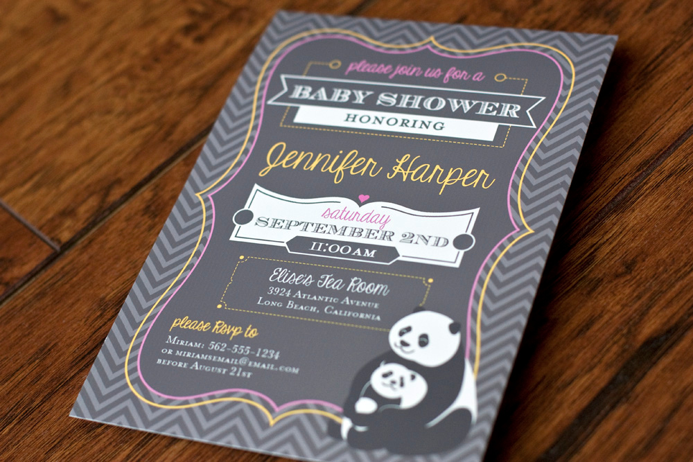 Panda Themed Baby Shower